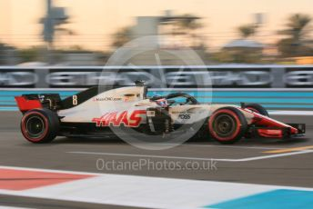 World © Octane Photographic Ltd. Formula 1 –  Abu Dhabi GP - Practice 2. Haas F1 Team VF-18 – Romain Grosjean. Yas Marina Circuit, Abu Dhabi. Friday 23rd November 2018.