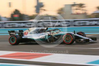 World © Octane Photographic Ltd. Formula 1 –  Abu Dhabi GP - Practice 2. Mercedes AMG Petronas Motorsport AMG F1 W09 EQ Power+ - Lewis Hamilton. Yas Marina Circuit, Abu Dhabi. Friday 23rd November 2018.