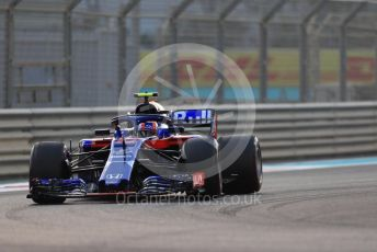 World © Octane Photographic Ltd. Formula 1 –  Abu Dhabi GP - Practice 2. Scuderia Toro Rosso STR13 – Pierre Gasly. Yas Marina Circuit, Abu Dhabi. Friday 23rd November 2018.