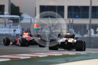 World © Octane Photographic Ltd. Formula 1 –  Abu Dhabi GP - Practice 2. Aston Martin Red Bull Racing TAG Heuer RB14 – Daniel Ricciardo and Max Verstappen. Yas Marina Circuit, Abu Dhabi. Friday 23rd November 2018.