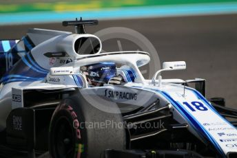 World © Octane Photographic Ltd. Formula 1 –  Abu Dhabi GP - Practice 3. Williams Martini Racing FW41 – Lance Stroll. Yas Marina Circuit, Abu Dhabi. Saturday 24th November 2018.