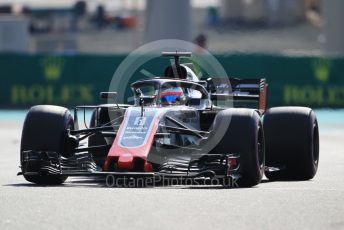 World © Octane Photographic Ltd. Formula 1 – Abu Dhabi GP - Practice 3. Haas F1 Team VF-18 – Romain Grosjean. Yas Marina Circuit, Abu Dhabi. Saturday 24th November 2018.