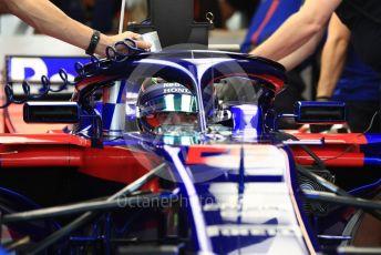 World © Octane Photographic Ltd. Formula 1 – Abu Dhabi GP - Practice 3. Scuderia Toro Rosso STR13 – Brendon Hartley. Yas Marina Circuit, Abu Dhabi. Saturday 24th November 2018.