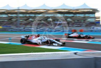 World © Octane Photographic Ltd. Formula 1 –  Abu Dhabi GP - Qualifying. Alfa Romeo Sauber F1 Team C37 – Marcus Ericsson and Haas F1 Team VF-18 – Kevin Magnussen. Yas Marina Circuit, Abu Dhabi. Saturday 24th November 2018.