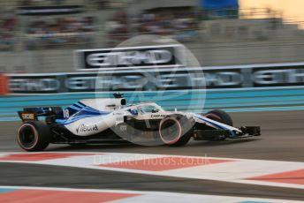 World © Octane Photographic Ltd. Formula 1 –  Abu Dhabi GP - Qualifying. Williams Martini Racing FW41 – Lance Stroll. Yas Marina Circuit, Abu Dhabi. Saturday 24th November 2018.