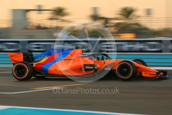 World © Octane Photographic Ltd. Formula 1 – Abu Dhabi GP - Qualifying. McLaren MCL33 – Fernando Alonso. Yas Marina Circuit, Abu Dhabi. Saturday 24th November 2018.