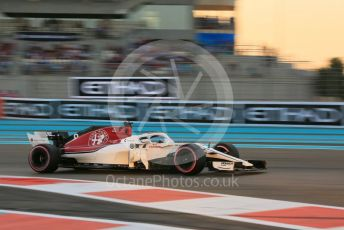World © Octane Photographic Ltd. Formula 1 –  Abu Dhabi GP - Qualifying. Alfa Romeo Sauber F1 Team C37 – Marcus Ericsson. Yas Marina Circuit, Abu Dhabi. Saturday 24th November 2018.