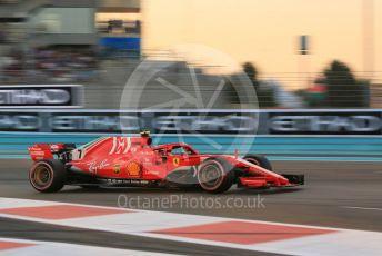 World © Octane Photographic Ltd. Formula 1 –  Abu Dhabi GP - Qualifying. Scuderia Ferrari SF71-H – Kimi Raikkonen. Yas Marina Circuit, Abu Dhabi. Saturday 24th November 2018.