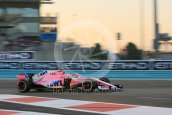 World © Octane Photographic Ltd. Formula 1 – Abu Dhabi GP - Qualifying. Racing Point Force India VJM11 - Sergio Perez. Yas Marina Circuit, Abu Dhabi. Saturday 24th November 2018.