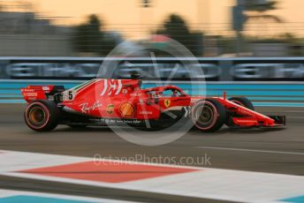 World © Octane Photographic Ltd. Formula 1 – Abu Dhabi GP - Qualifying. Scuderia Ferrari SF71-H – Sebastian Vettel. Yas Marina Circuit, Abu Dhabi. Saturday 24th November 2018.