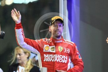 World © Octane Photographic Ltd. Formula 1 –  Abu Dhabi GP - Podium. Scuderia Ferrari SF71-H – Sebastian Vettel. Yas Marina Circuit, Abu Dhabi. Sunday 25th November 2018.