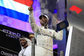 World © Octane Photographic Ltd. Formula 1 –  Abu Dhabi GP - Podium. Mercedes AMG Petronas Motorsport AMG F1 W09 EQ Power+ - Lewis Hamilton. Yas Marina Circuit, Abu Dhabi. Sunday 25th November 2018.