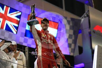 World © Octane Photographic Ltd. Formula 1 –  Abu Dhabi GP - Podium. Scuderia Ferrari SF71-H – Sebastian Vettel. Yas Marina Circuit, Abu Dhabi. Sunday 25th November 2018.