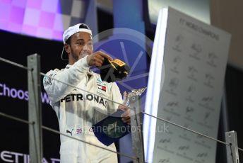 World © Octane Photographic Ltd. Formula 1 –  Abu Dhabi GP - Podium. Mercedes AMG Petronas Motorsport AMG F1 W09 EQ Power+ - Lewis Hamilton. Yas Marina Circuit, Abu Dhabi. Sunday 25th November 2018.