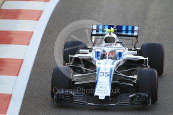 World © Octane Photographic Ltd. Formula 1 –  Abu Dhabi GP - Race. Williams Martini Racing FW41 – Sergey Sirotkin. Yas Marina Circuit, Abu Dhabi. Sunday 25th November 2018.