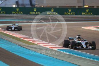 World © Octane Photographic Ltd. Formula 1 –  Abu Dhabi GP - Race. Mercedes AMG Petronas Motorsport AMG F1 W09 EQ Power+ - Lewis Hamilton and Valtteri Bottas. Yas Marina Circuit, Abu Dhabi. Sunday 25th November 2018.