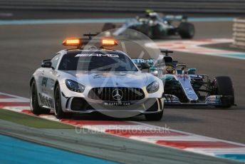 World © Octane Photographic Ltd. Formula 1 –  Abu Dhabi GP - Race. The Safety Car leads Mercedes AMG Petronas Motorsport AMG F1 W09 EQ Power+ - Lewis Hamilton and Valtteri Bottas. Yas Marina Circuit, Abu Dhabi. Sunday 25th November 2018.