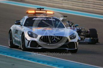 World © Octane Photographic Ltd. Formula 1 –  Abu Dhabi GP - Race. The Safety Car leads Mercedes AMG Petronas Motorsport AMG F1 W09 EQ Power+ - Lewis Hamilton. Yas Marina Circuit, Abu Dhabi. Sunday 25th November 2018.