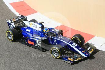 World © Octane Photographic Ltd. FIA Formula 2 (F2) – Abu Dhabi GP - Practice. Carlin - Sergio Sette Camara. Yas Marina Circuit, Abu Dhabi. Friday 23rd November 2018.