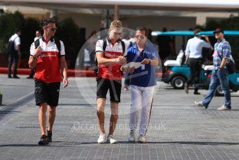 World © Octane Photographic Ltd. Formula 1 – Abu Dhabi GP - Paddock. Alfa Romeo Sauber F1 Team C37 – Marcus Ericsson. Yas Marina Circuit, Abu Dhabi. Friday 23rd November 2018.