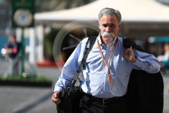 World © Octane Photographic Ltd. Formula 1 - Abu Dhabi GP - Paddock. Chase Carey - Chief Executive Officer of the Formula One Group. Yas Marina Circuit, Abu Dhabi. Friday 23rd November 2018.