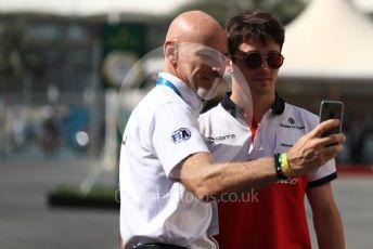 World © Octane Photographic Ltd. Formula 1 –  Abu Dhabi GP - Paddock. Alfa Romeo Sauber F1 Team C37 – Charles Leclerc. Yas Marina Circuit, Abu Dhabi. Friday 23rd November 2018.
