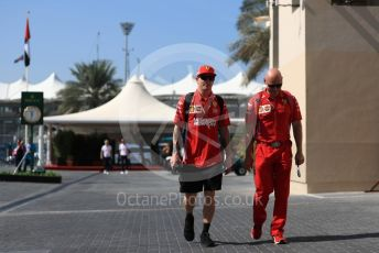 World © Octane Photographic Ltd. Formula 1 –  Abu Dhabi GP - Paddock. Scuderia Ferrari SF71-H – Kimi Raikkonen. Yas Marina Circuit, Abu Dhabi. Friday 23rd November 2018.