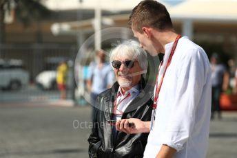 World © Octane Photographic Ltd. Formula 1 –  Abu Dhabi GP - Paddock. Bernie Ecclestone. Yas Marina Circuit, Abu Dhabi. Friday 23rd November 2018.