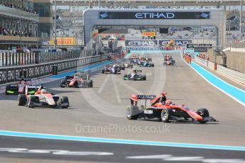 World © Octane Photographic Ltd. GP3 – Abu Dhabi GP – Race 1. Green flag lap. Yas Marina Circuit, Abu Dhabi. Saturday 24th November 2018.