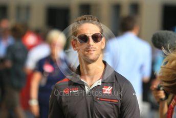 World © Octane Photographic Ltd. Formula 1 –  Abu Dhabi GP - Paddock. Haas F1 Team VF-18 – Romain Grosjean. Yas Marina Circuit, Abu Dhabi. Sunday 25th November 2018.