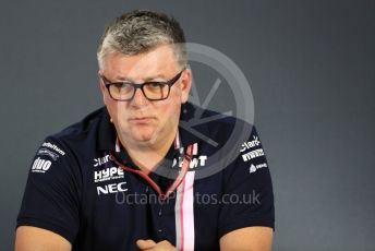 World © Octane Photographic Ltd. Formula 1 - United States GP - Friday FIA Team Press Conference. Otmar Szafnauer - Team Principal of Racing Point Force India. Yas Marina Circuit, Abu Dhabi. Friday 23rd November 2018.