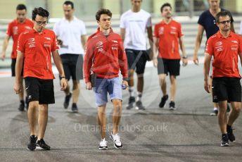 World © Octane Photographic Ltd. FIA Formula 2 (F2) – Abu Dhabi GP - Track Walk. Prema Powerteam - Nyck de Vries. Yas Marina Circuit, Abu Dhabi. Thursday 22nd November 2018.