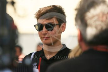 World © Octane Photographic Ltd. Formula 1 - Abu Dhabi GP - Paddock. George Russell - Mercedes AMG Petronas F1 Reserve Driver. Yas Marina Circuit, Abu Dhabi. Thursday 22nd November 2018.