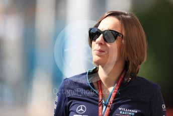 World © Octane Photographic Ltd. Formula 1 - Abu Dhabi GP - Paddock. Claire Williams - Deputy Team Principal of Williams Martini Racing. Yas Marina Circuit, Abu Dhabi. Thursday 22nd November 2018.