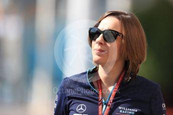 World © Octane Photographic Ltd. Formula 1 - Abu Dhabi GP - Paddock. Claire Williams - Deputy Team Principal of Williams Martini Racing. Yas Marina Circuit, Abu Dhabi. Thursday 22nd November 2018.
