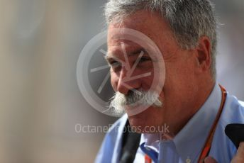 World © Octane Photographic Ltd. Formula 1 - Abu Dhabi GP - Paddock. Chase Carey - Chief Executive Officer of the Formula One Group. Yas Marina Circuit, Abu Dhabi. Thursday 22nd November 2018.