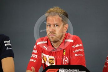World © Octane Photographic Ltd. Formula 1 – Abu Dhabi GP - FIA Drivers' Press Conference. Scuderia Ferrari – Sebastian Vettel. Yas Marina Circuit, Abu Dhabi. Thursday 22nd November 2018.