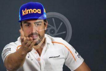 World © Octane Photographic Ltd. Formula 1 – Abu Dhabi GP - FIA Drivers' Press Conference. McLaren – Fernando Alonso. Yas Marina Circuit, Abu Dhabi. Thursday 22nd November 2018.