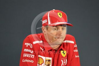 World © Octane Photographic Ltd. Formula 1 – Abu Dhabi GP - FIA Drivers' Press Conference. Scuderia Ferrari – Kimi Raikkonen. Yas Marina Circuit, Abu Dhabi. Thursday 22nd November 2018.