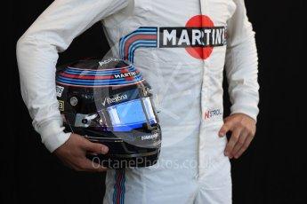 World © Octane Photographic Ltd. Formula 1 – Australian GP - Driver Photo Call. Williams Martini Racing FW41 – Lance Stroll. Albert Park, Melbourne, Australia. Thursday 22nd March 2018.