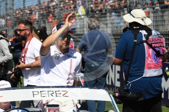 World © Octane Photographic Ltd. Formula 1 – Australian GP - Drivers' Parade. Sahara Force India VJM11 - Sergio Perez. Albert Park, Melbourne, Australia. Sunday 25th March 2018.