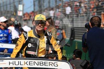 World © Octane Photographic Ltd. Formula 1 – Australian GP - Drivers' Parade. Renault Sport F1 Team RS18 – Nico Hulkenberg. Albert Park, Melbourne, Australia. Sunday 25th March 2018.
