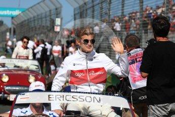 World © Octane Photographic Ltd. Formula 1 – Australian GP - Drivers' Parade. Alfa Romeo Sauber F1 Team C37 – Marcus Ericsson. Albert Park, Melbourne, Australia. Sunday 25th March 2018.