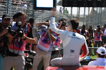 World © Octane Photographic Ltd. Formula 1 – Australian GP - Drivers' Parade. Alfa Romeo Sauber F1 Team C37 – Charles Leclerc. Albert Park, Melbourne, Australia. Sunday 25th March 2018.