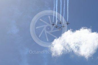 World © Octane Photographic Ltd. Formula 1 – Australian GP - Drivers' Parade. Australian Air Force Aerobatic team - The Roulettes - Pilatus PC9/A. Albert Park, Melbourne, Australia. Sunday 25th March 2018.