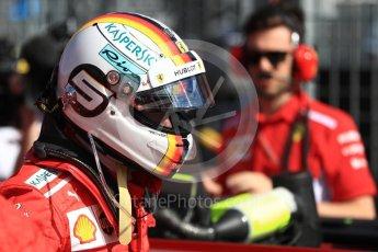 World © Octane Photographic Ltd. Formula 1 – Australian GP - Grid. Scuderia Ferrari SF71-H – Sebastian Vettel. Albert Park, Melbourne, Australia. Sunday 25th March 2018.