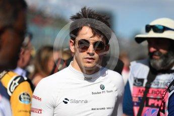 World © Octane Photographic Ltd. Formula 1 – Australian GP - Grid. Alfa Romeo Sauber F1 Team C37 – Charles Leclerc. Albert Park, Melbourne, Australia. Sunday 25th March 2018.