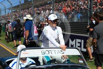 World © Octane Photographic Ltd. Formula 1 – Australian GP - Drivers' Parade. Mercedes AMG Petronas Motorsport AMG F1 W09 EQ Power+ - Valtteri Bottas. Albert Park, Melbourne, Australia. Sunday 25th March 2018.