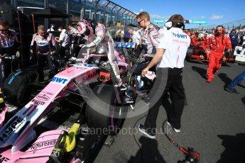 World © Octane Photographic Ltd. Formula 1 – Australian GP - Grid. Sahara Force India VJM11 - Sergio Perez. Albert Park, Melbourne, Australia. Sunday 25th March 2018.