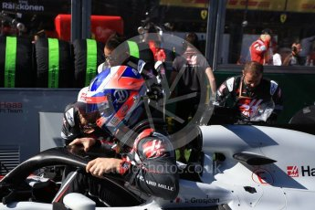 World © Octane Photographic Ltd. Formula 1 – Australian GP - Grid. Haas F1 Team VF-18 – Romain Grosjean. Albert Park, Melbourne, Australia. Sunday 25th March 2018.